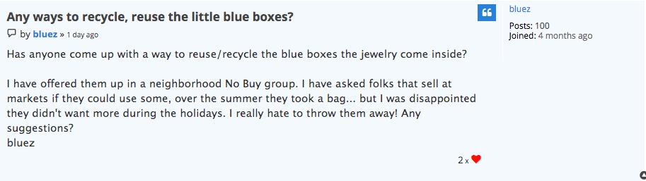 Community Forum post by member bluez.