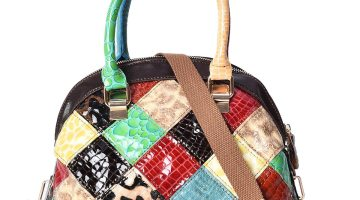 CHAOS BY ELSIE Multi Color Animal Embossed Pattern Leather Handbag with Detachable Strap