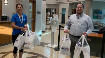 Shop LC donating face masks to Cedar Park Medical Center.