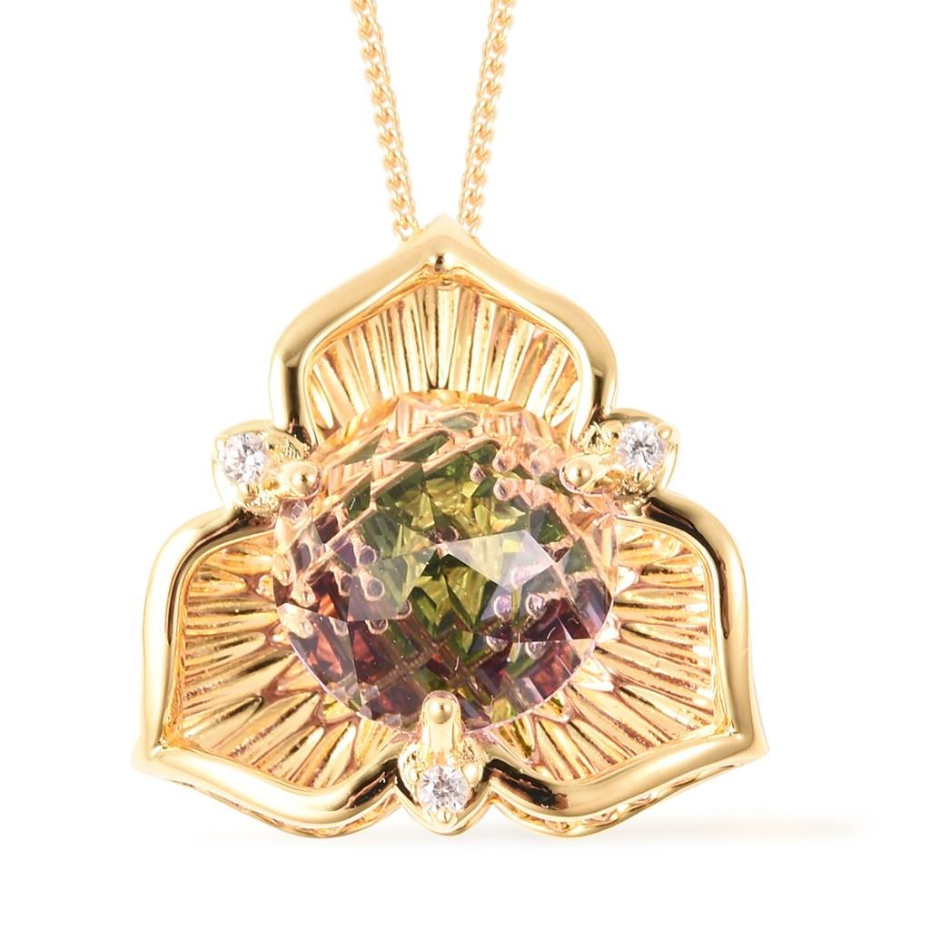 Galatea: Jewelry by Artist DavinChi Cut pendant necklace.