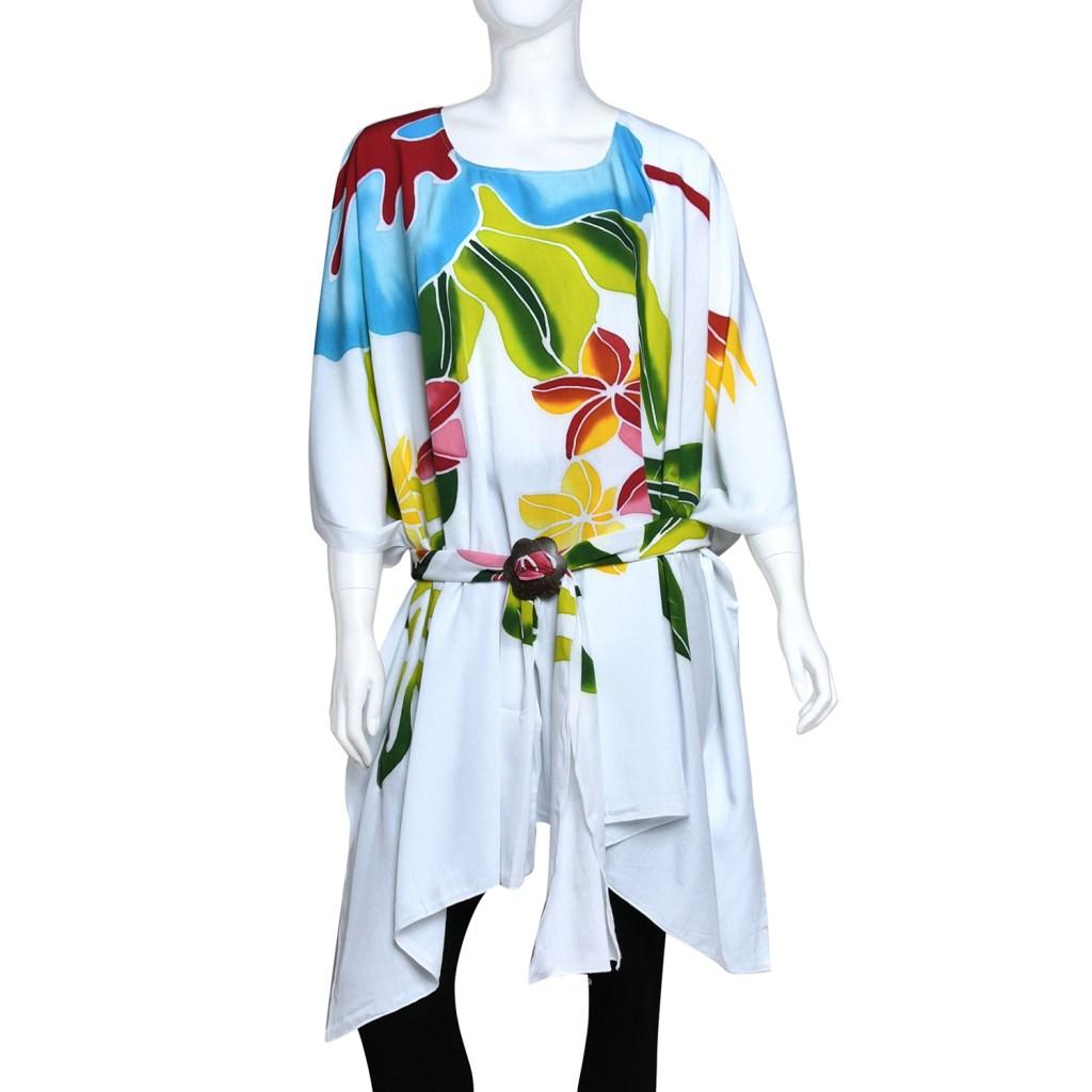 Floral print kaftan dress.