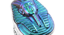 Sajen Silver collection King Tut ring in sterling silver.