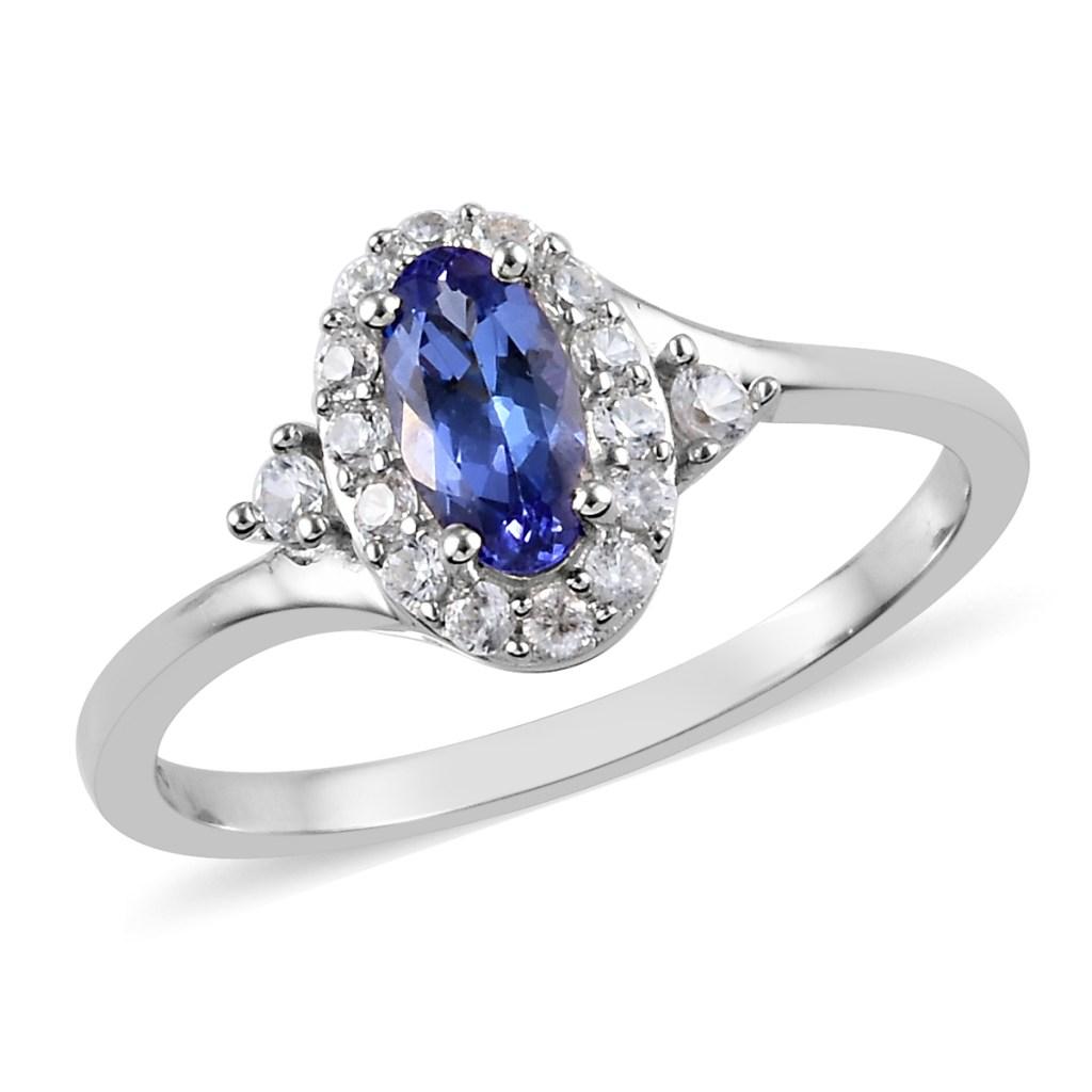 Sterling silver tanzanite ring.