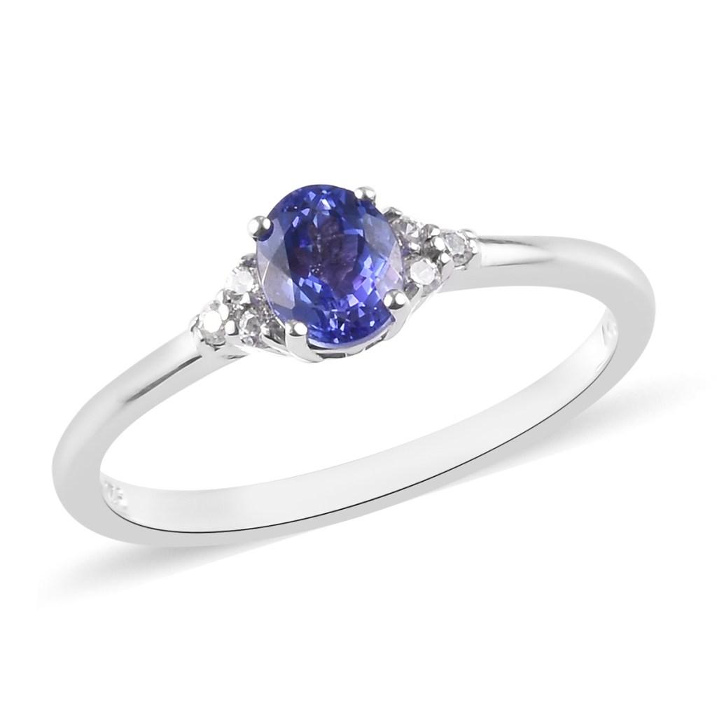 Solitaire tanzanite ring.