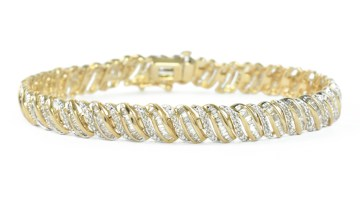 S-Link tennis bracelet in yellow gold.
