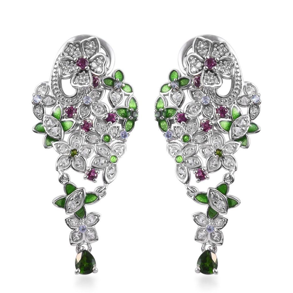 Flower drop earrings can be worn as studs or dangle earrings.
