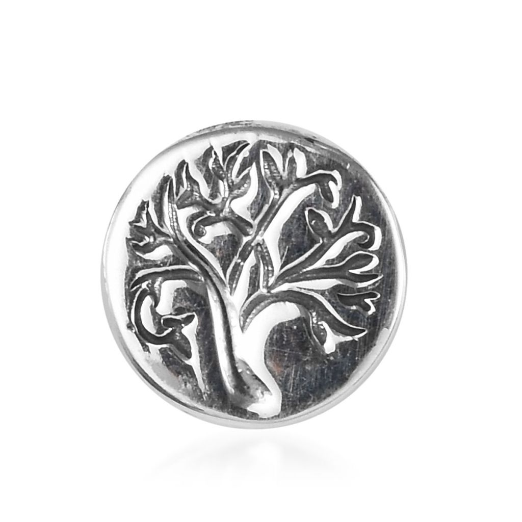 Sterling silver tree of life charm.