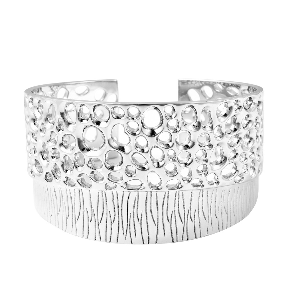 Rachel Galley sterling silver cuff bracelet.