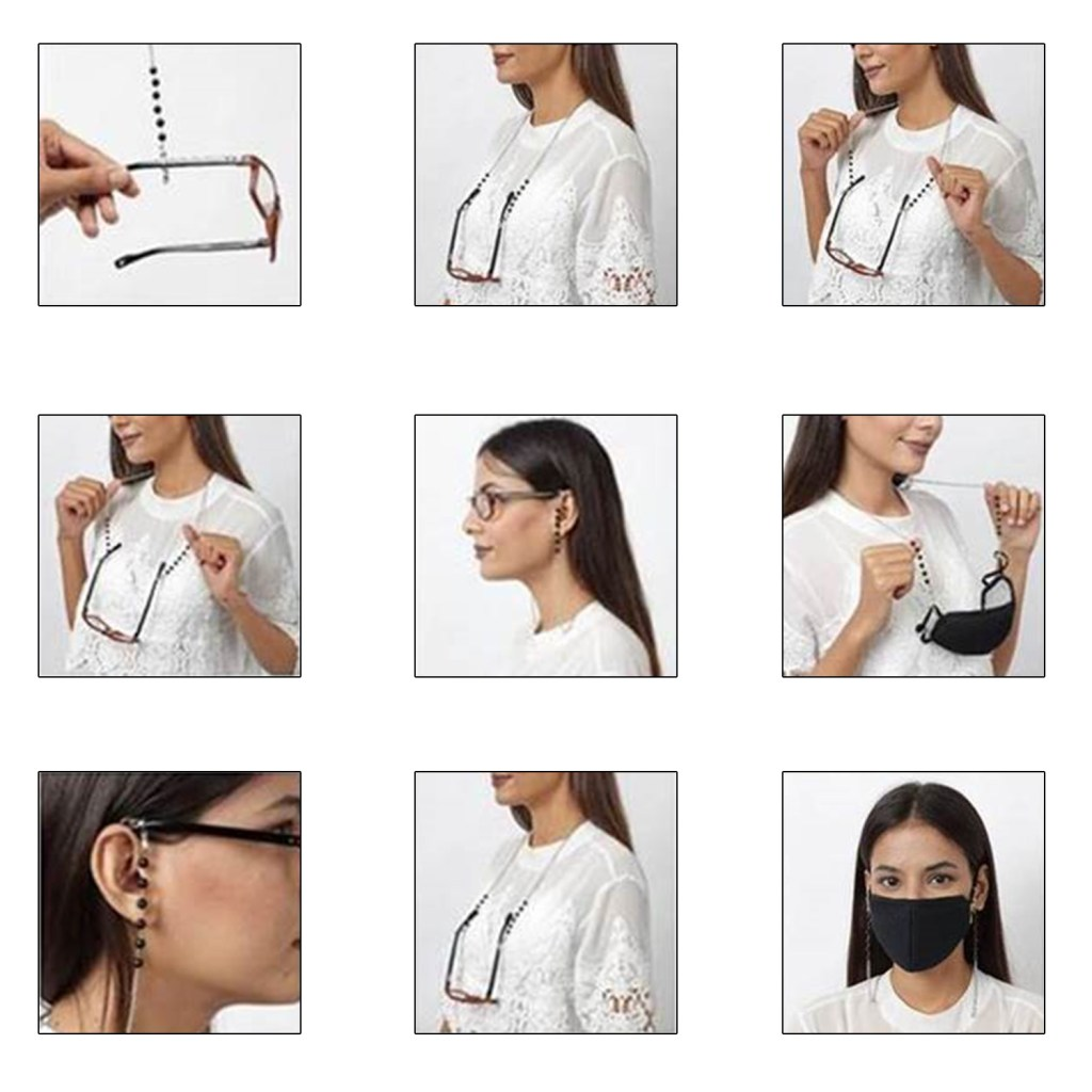 How to wear a face mask chain as a lanyard.