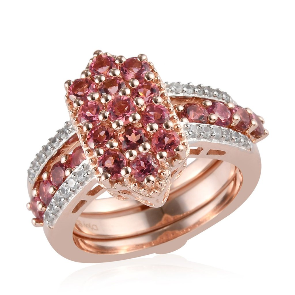 Pink cluster ring.