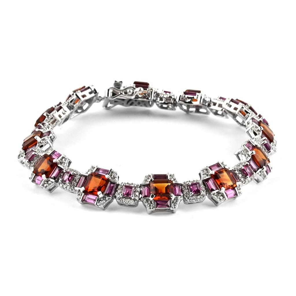 Citrine bracelet in sterling silver.