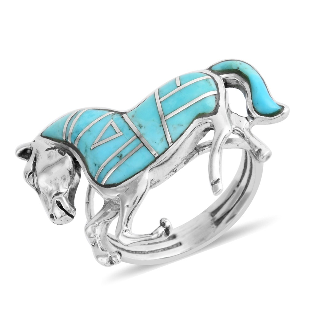 Turquoise horse ring.