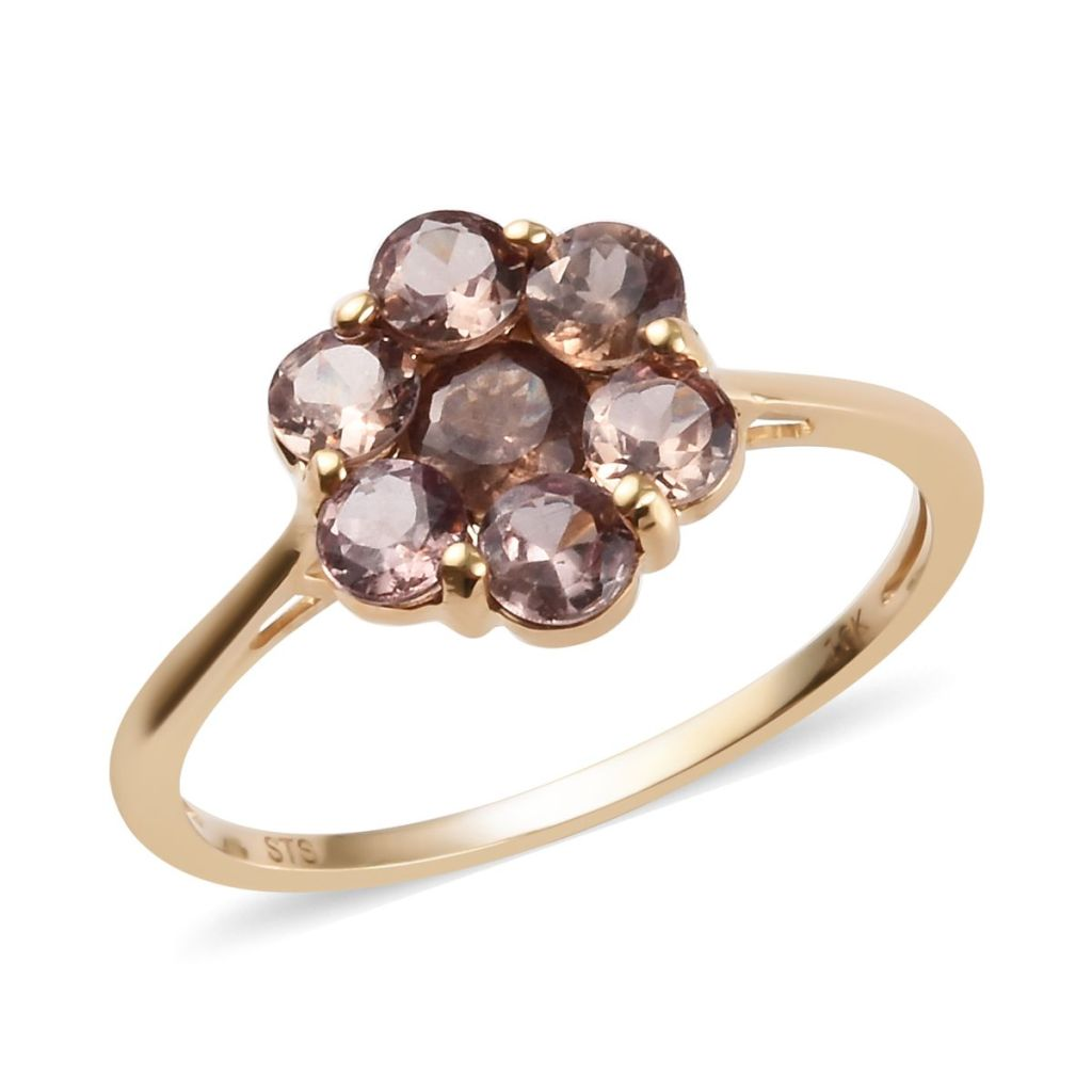 Floral gemstone ring.