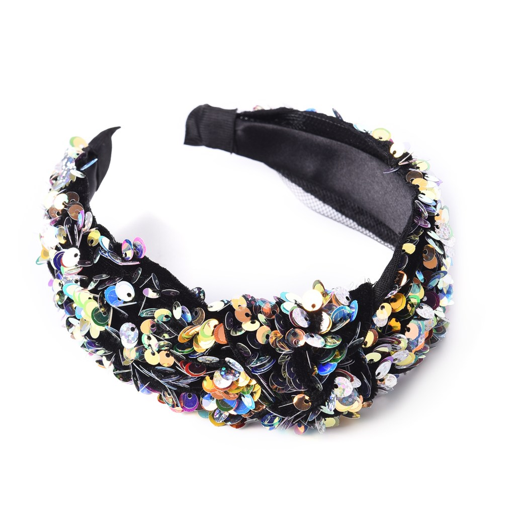Sparkly sequined headband.