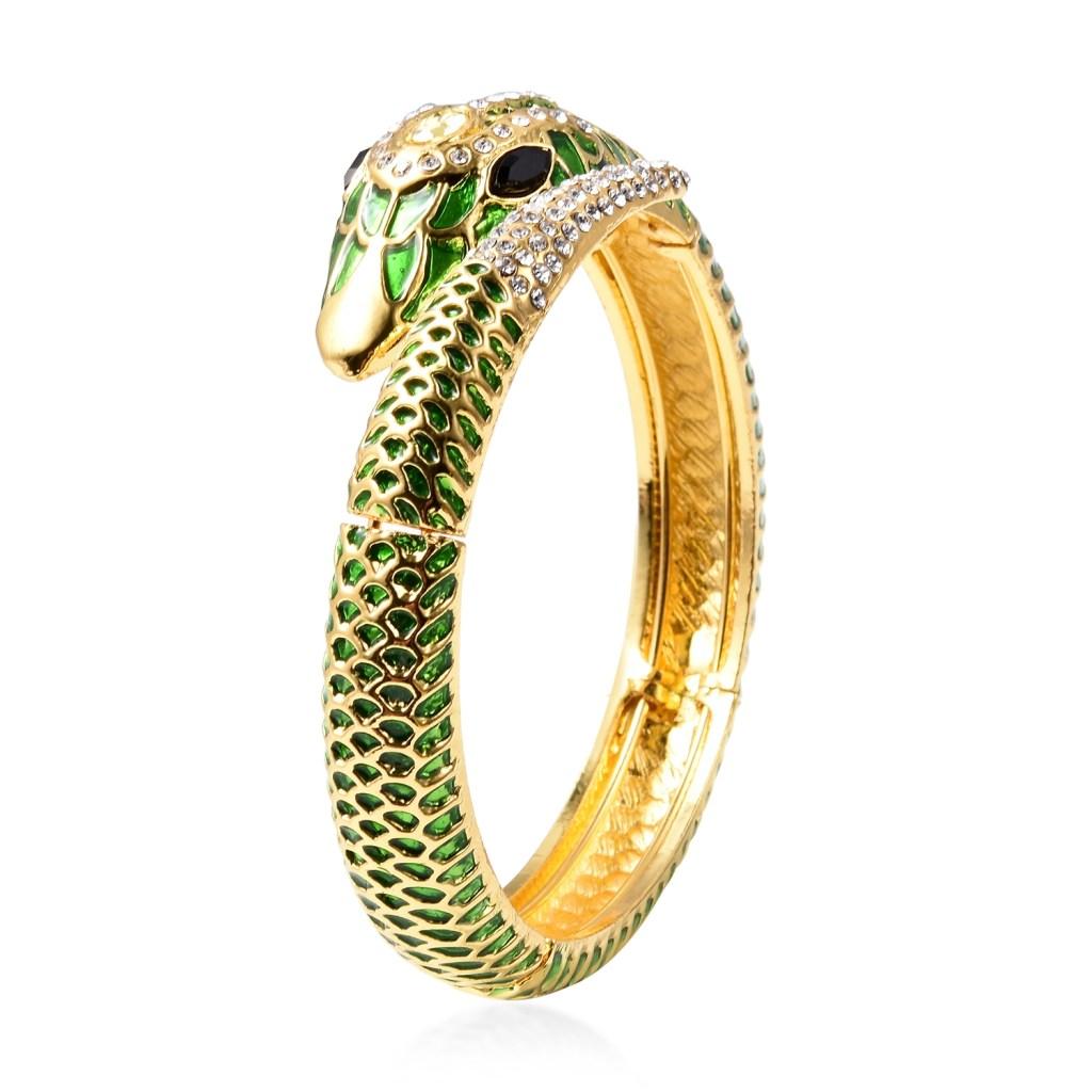 Goldtone snake bangle.
