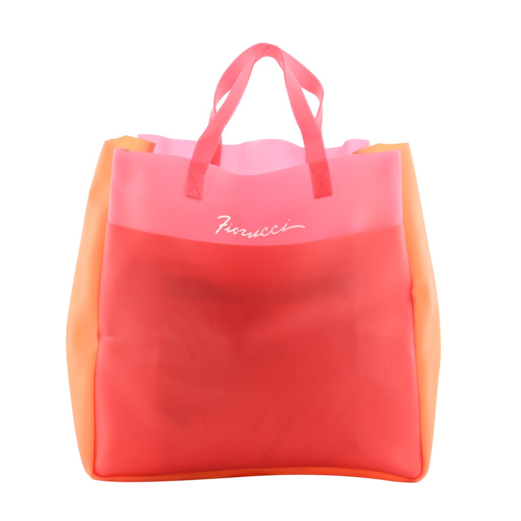 FIORUCCI Red and Pink 100% Polycarbomide Shopper Bag