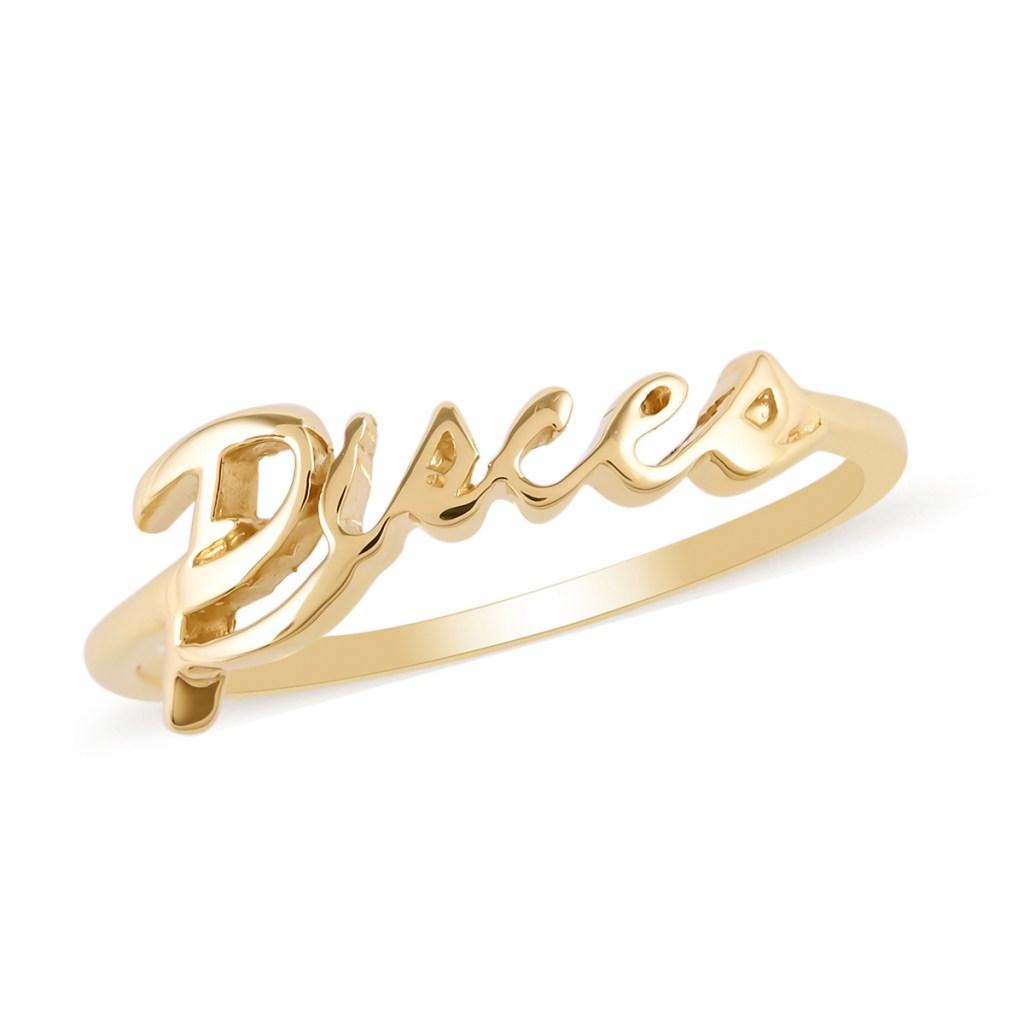 10K yellow gold zodiac jewelry.