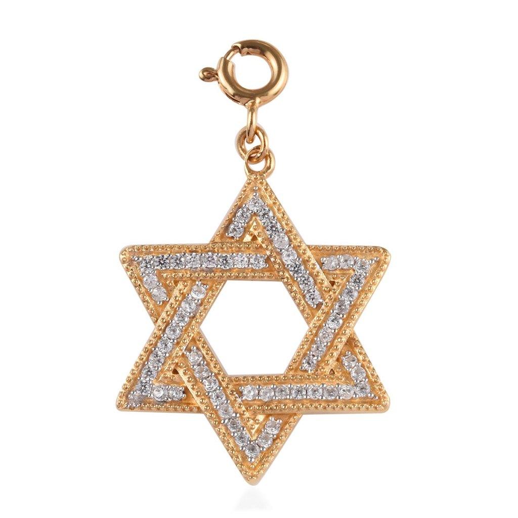 Gold Jewish jewelry Star of David charm.
