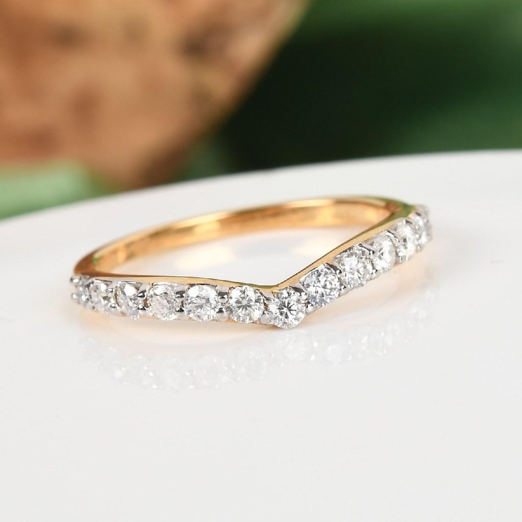 Moissanite chevron ring.