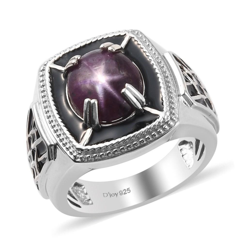 Men's ruby ring in sterling silver.
