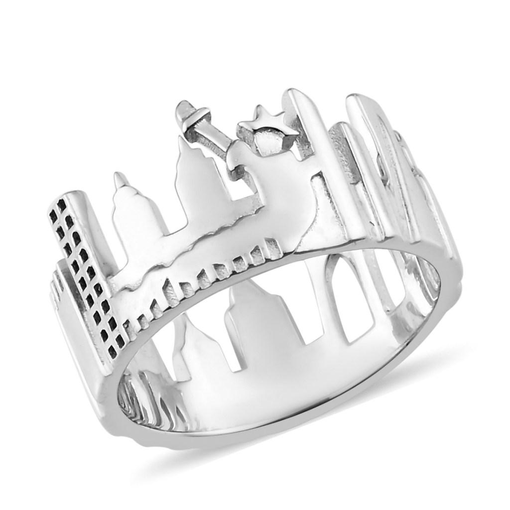 Sterling silver New York City ring.