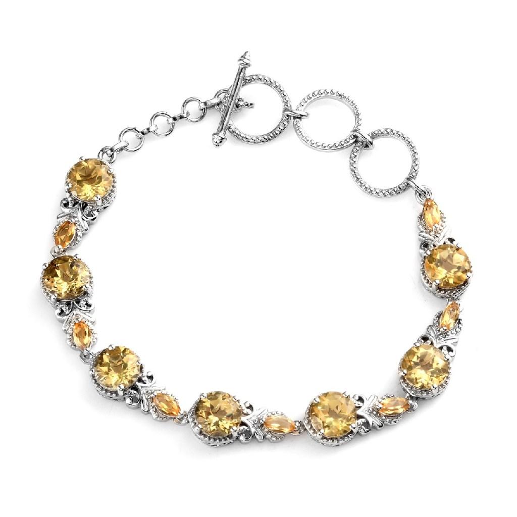 Yellow labradorite bracelet.