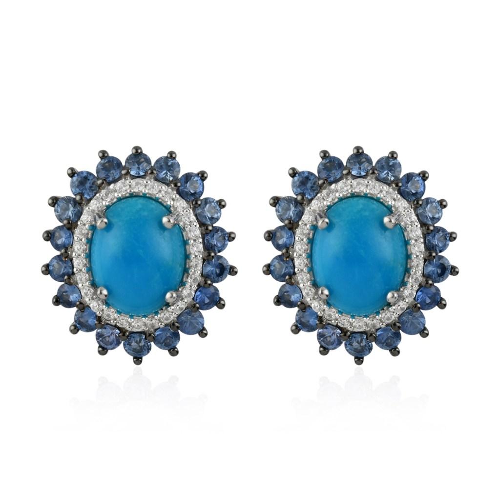 Sleeping beauty turquoise earrings.