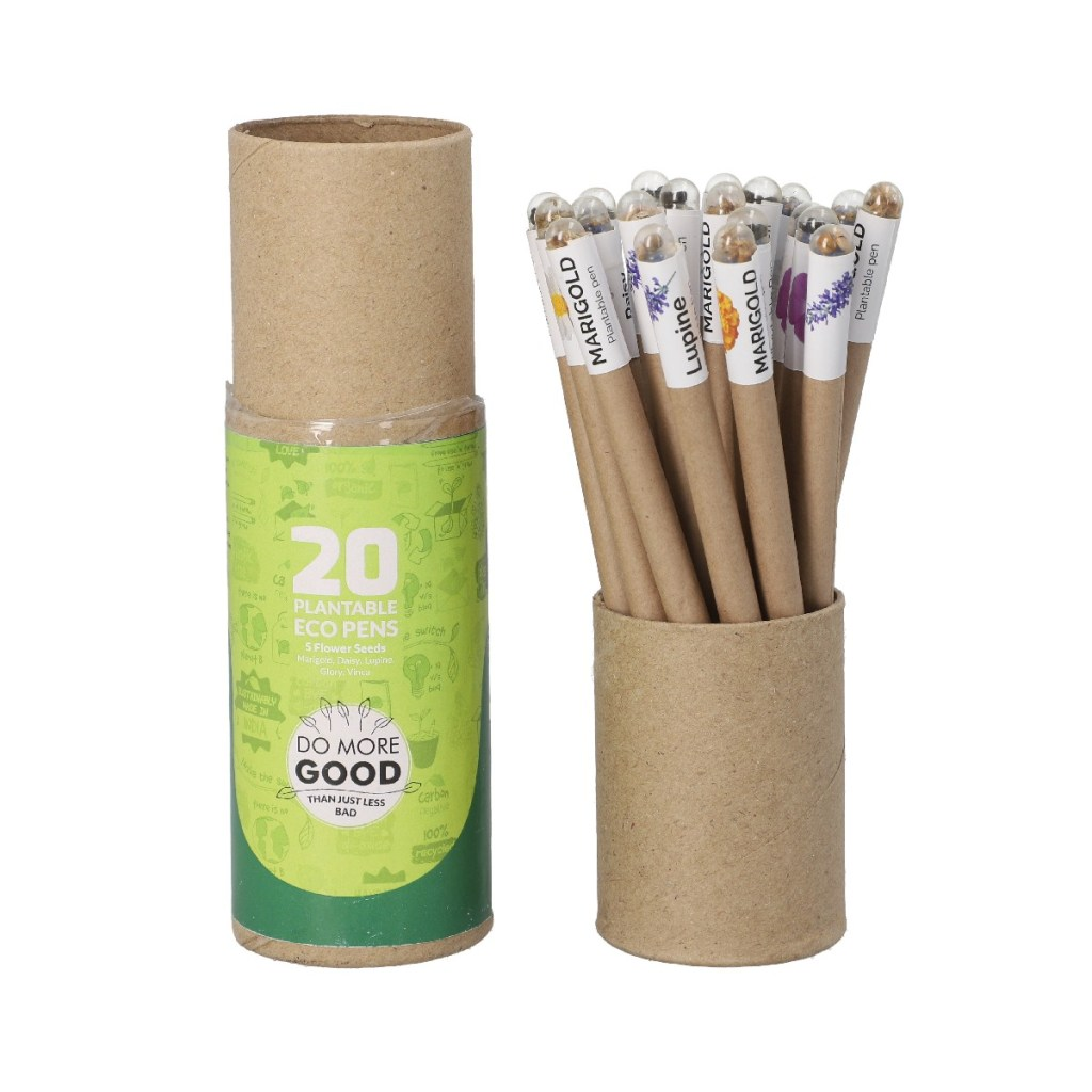 Set of 20 Recycled Paper Pen with Flower Seed