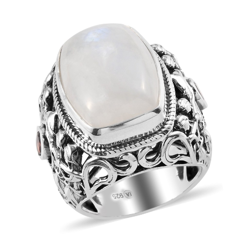 Indian moonstone ring.