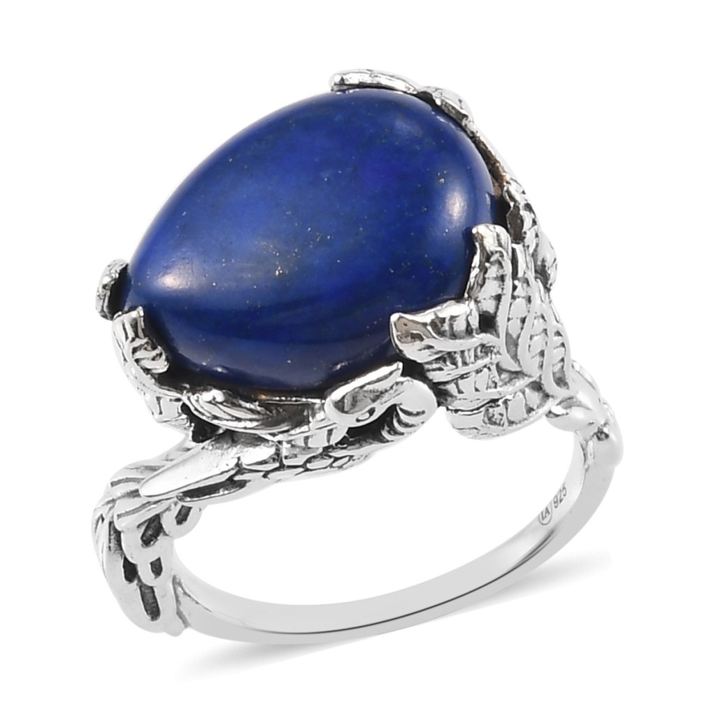 Lapis lazuli ring in sterling silver.