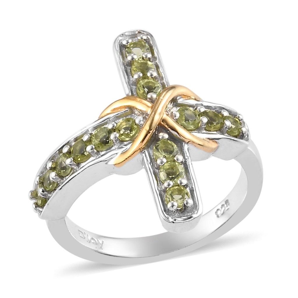 Green cross ring.