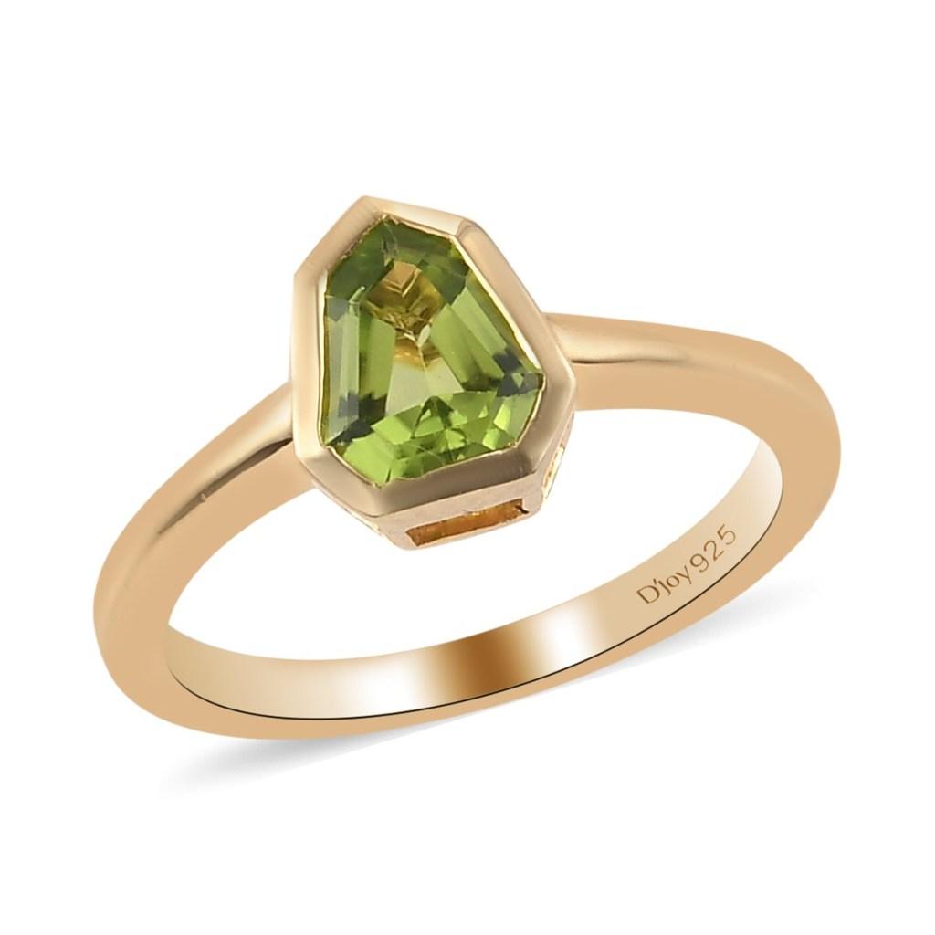 Gold peridot ring.