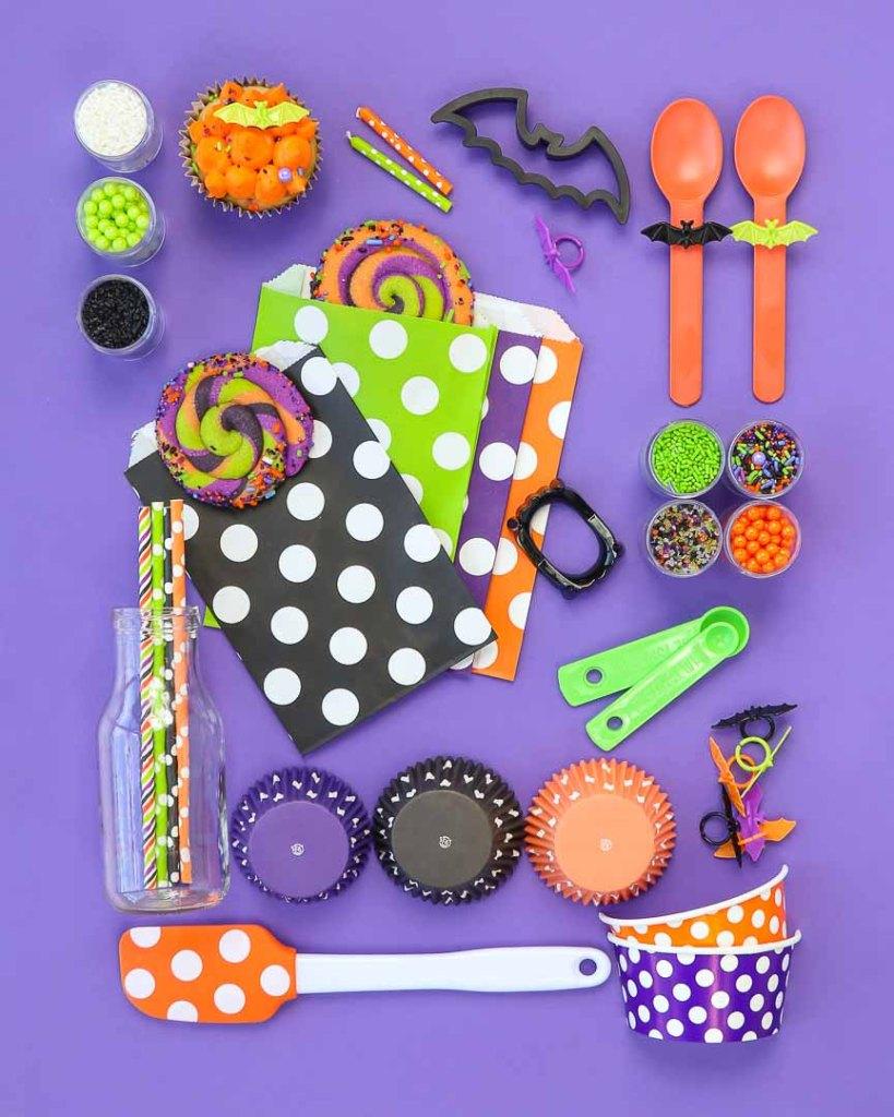Batty Bakery Kids Halloween Party Ideas - Halloween Party Supplies Style Board