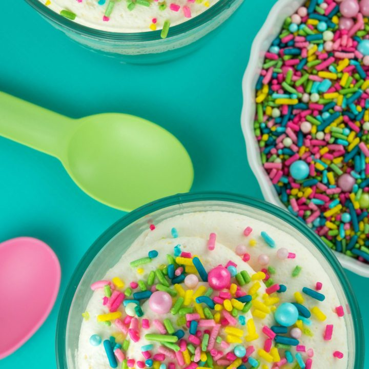 Sprinkle Cheesecake Mousse