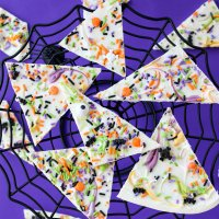 Easy Sprinkled Halloween Chocolate Bark Recipe