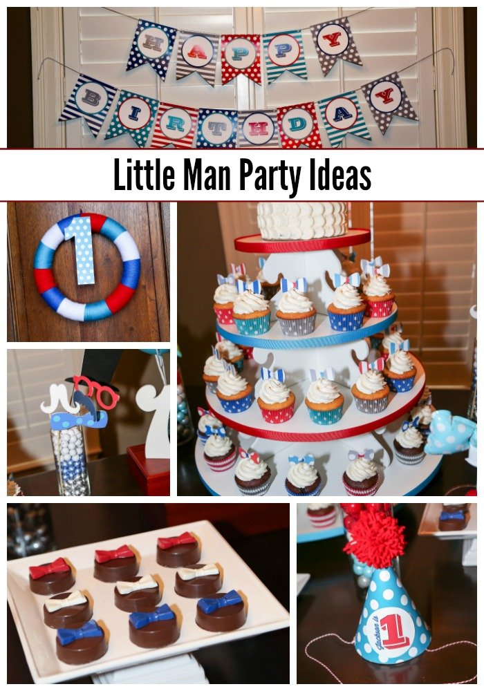 Little Man Birthday Party Collage