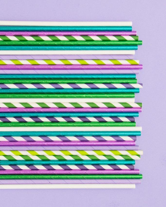 Mermaid Paper Straws - Mermaid Party Supplies
