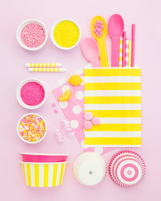 Pink Lemonade Party Ideas - Pink and Yellow Party Supplies