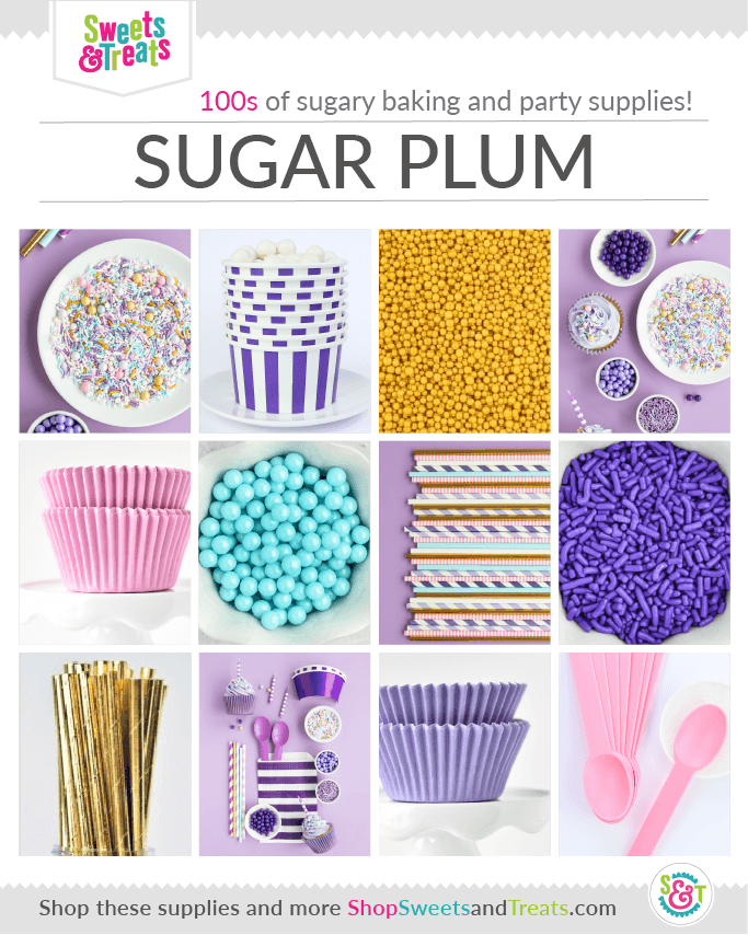 Nutcracker, Sugar Plum Fairy Party supplies collage