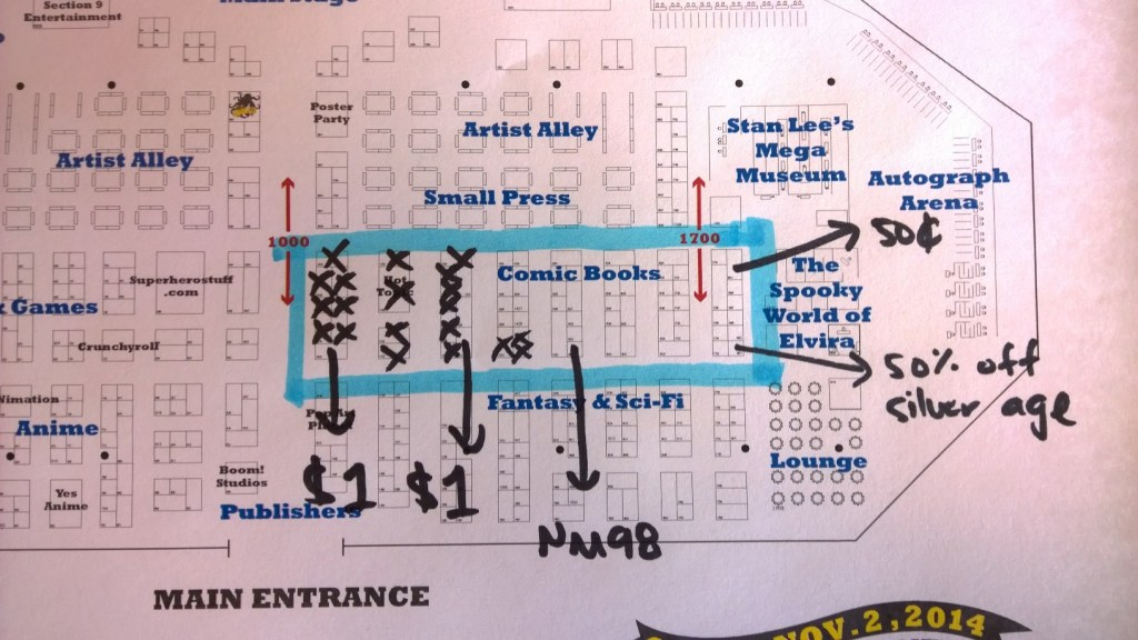 Sample marked up floor plan. Click to enlarge.