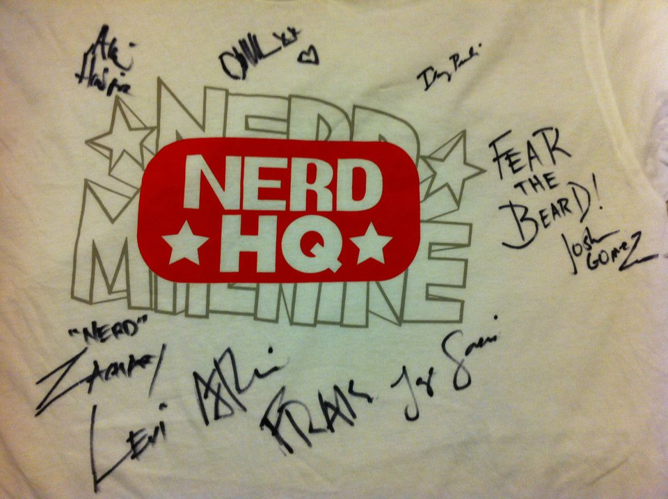 Nerd HQ signed shirt