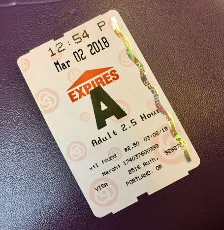 Trimet のチケット (2.5時間用)
