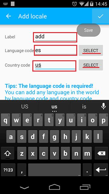 Add Locale Page