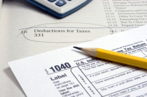 Deductions for Taxes & 1040 Tax Form