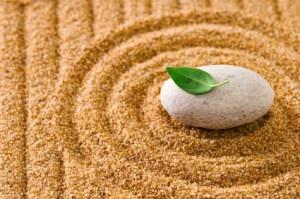 Simplicity in a zen garden