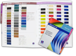 Colorchart Showing Colors for vinyl signs