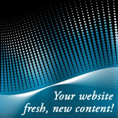 Your website fresh new content!