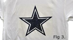Rhinestones Star on T-Shirt