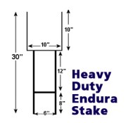 Heavy Duty Stakes for Bandit Signs