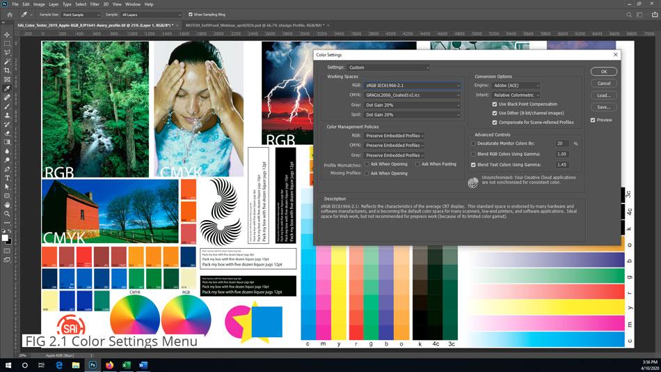 Adobe Photoshop Color Settings